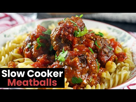 Slow Cooker Meatballs in a Rich Tomato Sauce