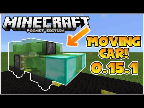 MOVING SLIME BLOCK CARS in MCPE!! // 0.15.1 Easy Tutorial - Minecraft PE (Pocket Edition)