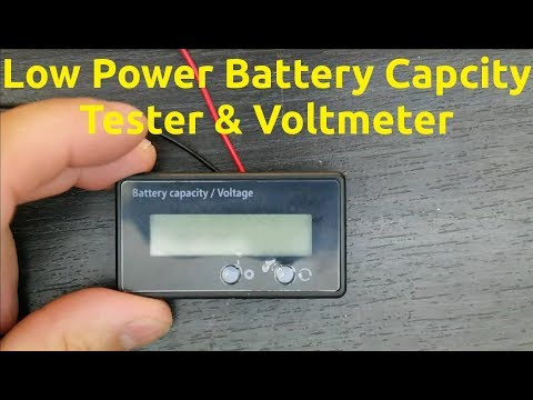Low Power Battery Capacity Tester & Voltmeter