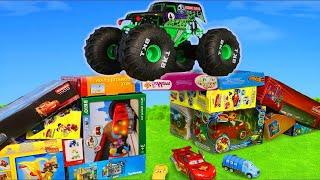 Monster Truck Pelleteuse, tracteur, tractopelle, Camion de pompier  jouets pour enfants - Kids Toys