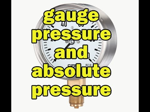 Difference between gauge pressure and absolute pressure in hindi|Explain gauge and absolute pressure