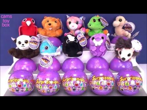 Surprizamals Series 7 Surprise Toys Stuffed Animals Opening Unboxing Kids Fun