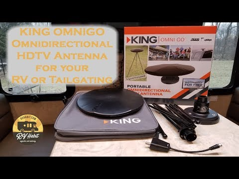 KING OmniGo Portable Omnidirectional OTA HDTV Antenna for the RV – Review and Install OA1501