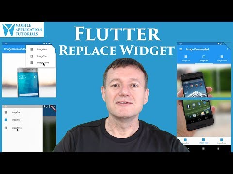 Flutter development tutorial - Introduction to replacing widgets