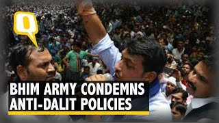Bhim Army Stages Protest in Delhi Condemning Anti-Dalit Policies| The Quint
