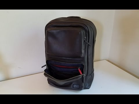 TUMI Archer Harrison Leather Backpack Review 2nd version