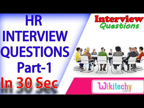 Tell Me Something About Yourself -1 hr interview questions and answers for freshers