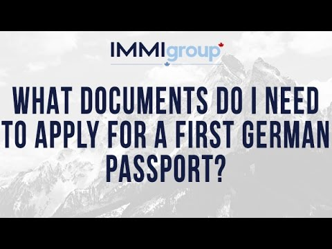 What documents do I need to apply for a first German passport?