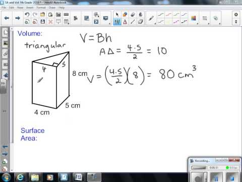 Surface Area and Volume 7th Grade Math 2013