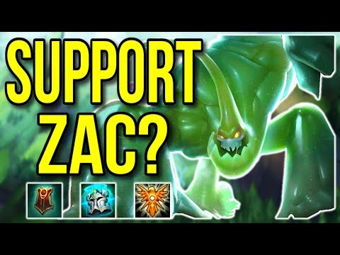 Is Zac Support Viable? Full Game Commentary #5 – League of Legends