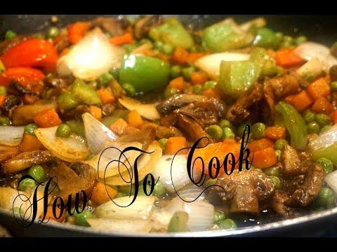 HOW TO MAKE VEGAN VEGETARIAN BROWN STEW MUSHROOMS & VEGETABLE RECIPE | HOW TO COOK