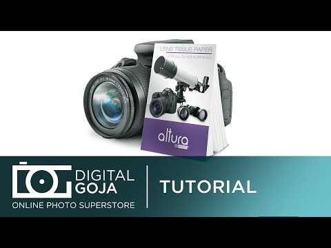 How To Clean Camera Lenses with Altura Photo Cleaning Tissue Paper Wipes | Video