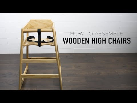 Lancaster Table & Seating: Wooden High Chair Assembly
