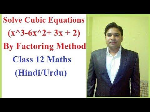 Cubic Equations (x^3 - 6x^2 + 3x + 2) By Factoring ,Maths (Hindi/Urdu)