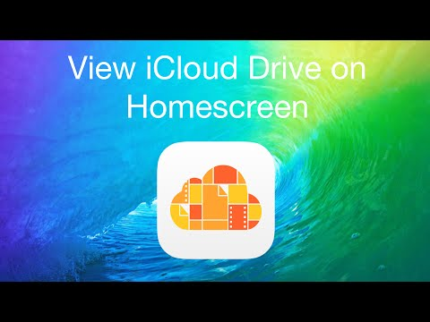 Quicktip: View iCloud Drive on Home screen in iOS 9