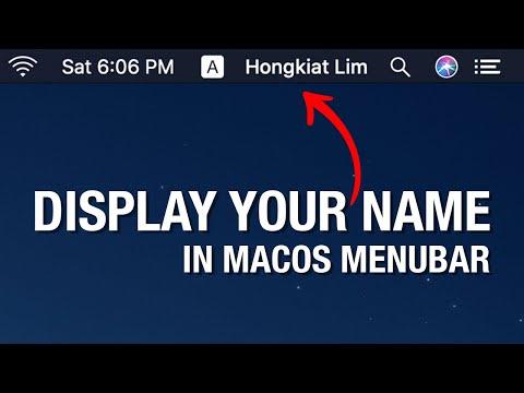 How to include name on Mac OS X Menu Bar