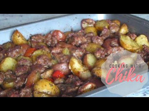 Roasted Sausage Pepper & Potato Bake  – Italian Sausage Bake | Borrowed Delights – Episode 37