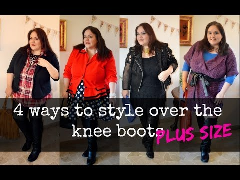 how to wear knee high boots 4 ways (plus size)