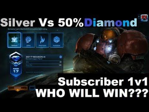 Silver Player vs 50% Unit's Life Diamond Player, Who Will Win??? (StarCraft 2)