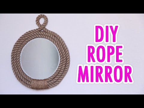 DIY Nautical Rope Mirror - HGTV Handmade