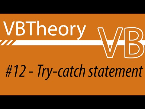 Try Statement And Error Handling - VB#12