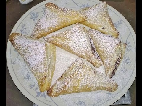 Perfect Nutella Turnovers - Chocolate Puff Pastry  Recipes by A Homemade Chef
