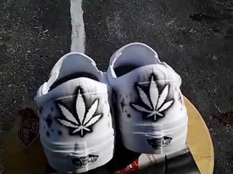 46f16aaee71e Cheech and Chong airbrush on a pair of Vans shoes. RG Aibrush Designs