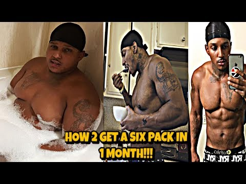 How to get a SIX PACK in 1 Month! (Working Out At HOME)