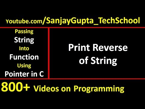 Print reverse of string by passing string into function using pointer in c programming