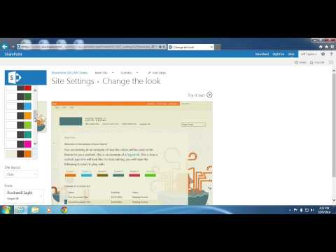 SharePoint 2013: How to change the look