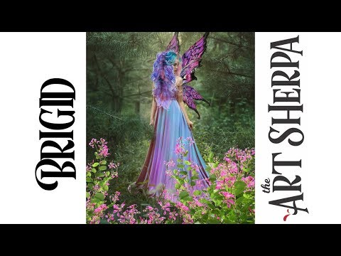 Brigid Spring Queen Fairy Acrylic Painting tutorial BAQ #5