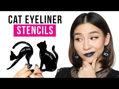 Testing Out Cat Eyeliner Stencils - Tina Tries It