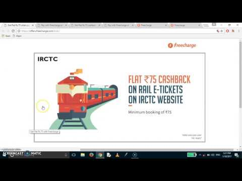 Get Rs 75 cashback when booking train tickets + many more