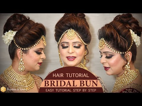 Easy Bridal BUN Hairstyle Tutorial | Step by Step Bridal Hairstyle Tutorials | Krushhh by Konica