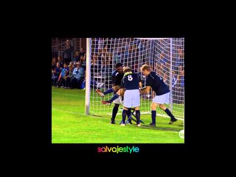 Goal Keeper stops goals with bloody face