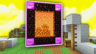Do NOT Enter This NEW PORTAL in SKYWARS...! (Minecraft)
