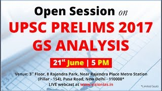 OPEN Session on UPSC Prelims 2017 GS Analysis