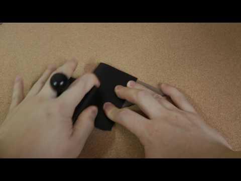 Wuta leather Black Wood leather burnisher (CUBE)