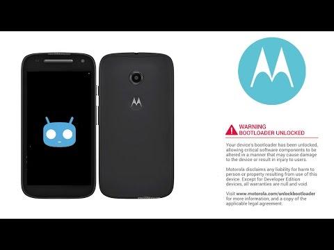 03 - Install / Flash Cyanogenmod 12.1 to Moto E2 2015 - Unlocking Bootloader