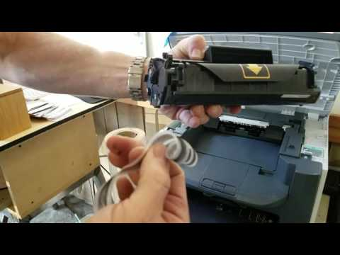 How to change a toner cartridge and a Canon MF4350 Printer