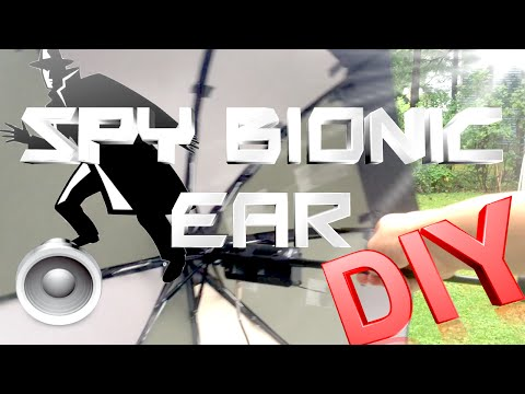 How to Make a Spy Bionic Ear - Low Cost (Parabolic Mic)