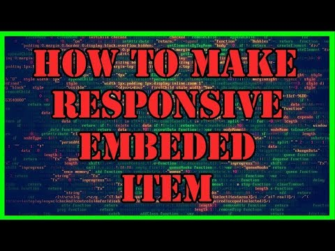 How to Make an Iframe or an Embeded Item or Video Responsive Using Bootstrap - Bootstrap Tutorial