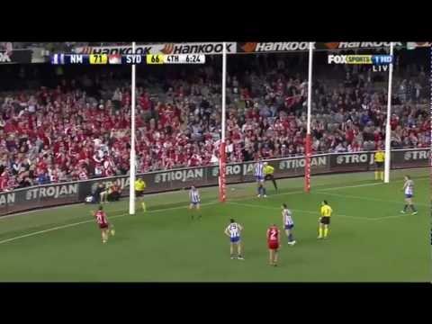 North Melbourne Kangaroos v Sydney Swans - Highlights - AFL 2011 Round 10 - Etihad Stadium