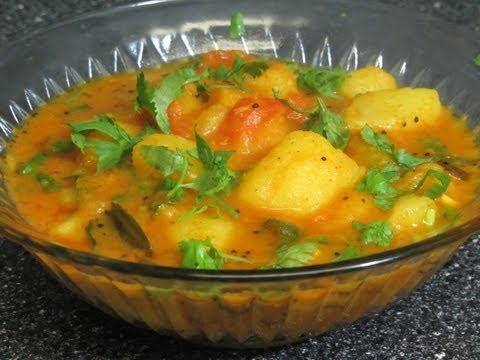 Spicy aloo curry | sabzi (potato curry) by crazy4veggie.com