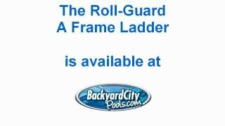 Roll-guard A-frame Ladder For Above Ground Swimming Pools