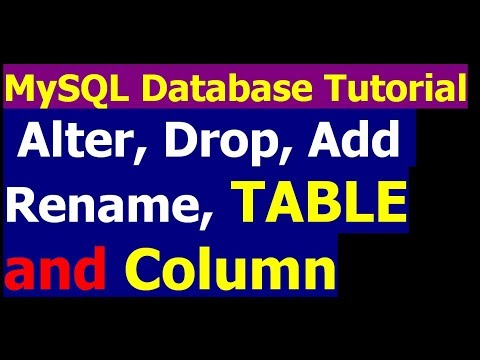 How To rename and drop a Table and add column in table - MySql Database Bangla Tutorial Part 25