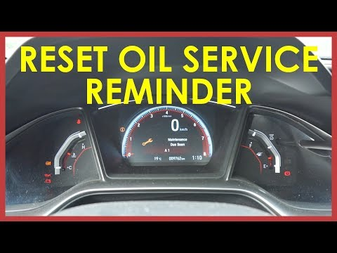 HOW TO RESET YOUR OIL SERVICE REMINDER: 2017 HONDA CIVIC