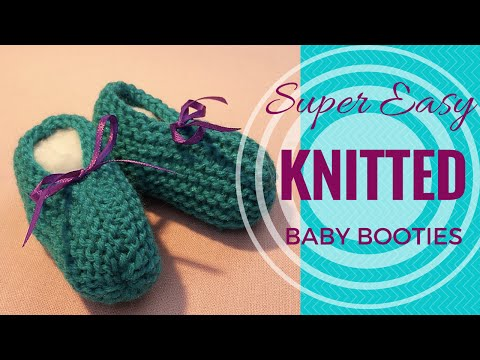 Knitted Baby Booties Super Easy