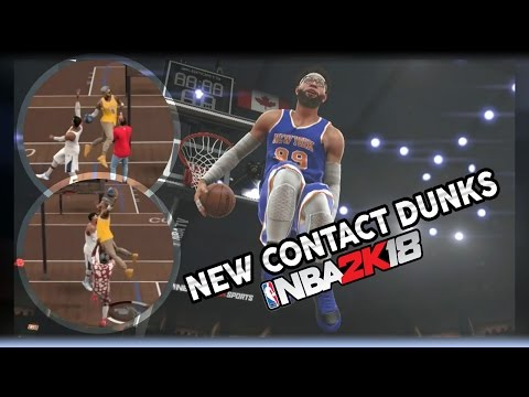 NBA 2K18 NEW CONTACT DUNK ANIMATIONS CONFIRMED!| CRAZY POSTERIZER + CONTACT DUNKS!| 360 WINDMILLS?!