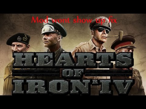 Hearts of Iron 4-Workshop mods wont show up FIX